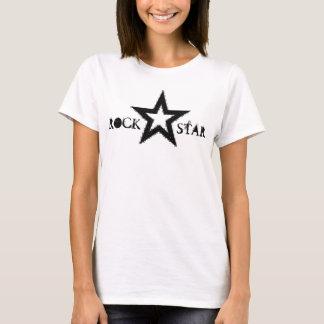 Camisola de alças das senhoras da estrela do rock camiseta