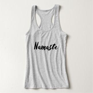 Camisola de alças das senhoras de Namaste Tshirt