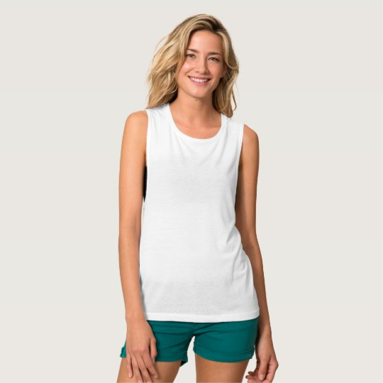 Regata feminina Flowy Muscle, da Bella+Canvas, Branco