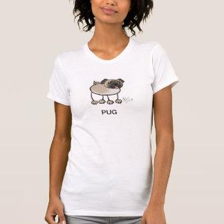 Camisola de alças do Pug do Scribble T-shirts