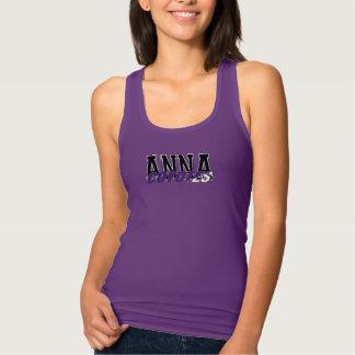 Camisola de alças do roxo de Anna Camiseta