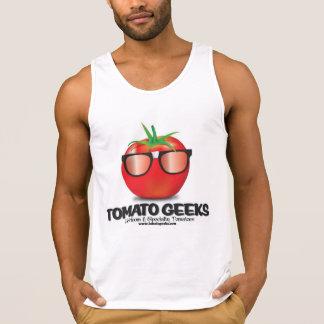 Camisola de alças dos geeks do tomate regatas