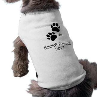 Camisola de alças social do animal de estimação do camiseta
