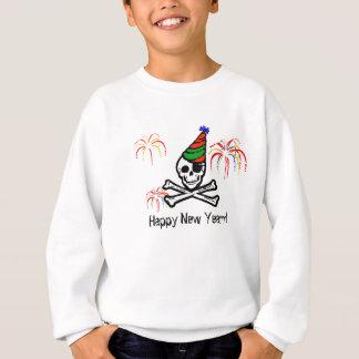 Camisola do feliz ano novo do pirata t-shirt