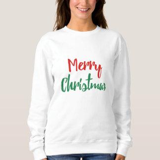 Camisola do Feliz Natal do feriado das mulheres T-shirts