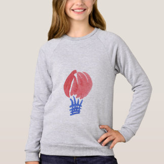 Camisola do Raglan das meninas do balão de ar T-shirt