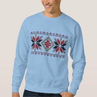 Camisola feia Crocheted do Natal dos flocos de Moletom
