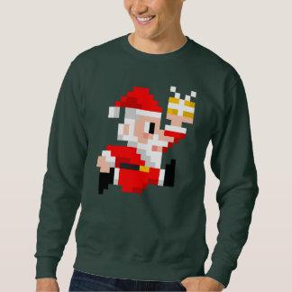Camisola feia de 8 bits do Natal do Papai Noel dos Suéter