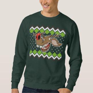Camisola feia do Natal da rena feia Moletom