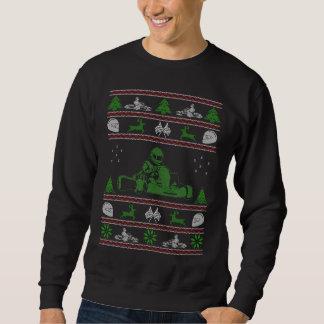 Camisola feia do Natal de Karting Suéter