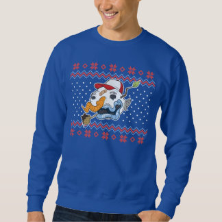 Camisola feia do Natal do boneco de neve feio Suéter