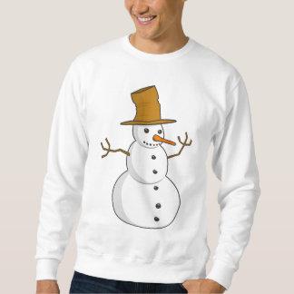 Camisola feia do Natal do boneco de neve gasto Moletom