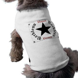 Camisola imprudente do cão do coração camisas para caes