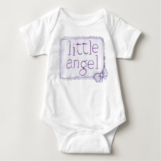 Camisola pequena do anjo das meninas t-shirts