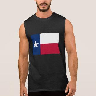 Camisolas de alças sem mangas da bandeira de TEXAS Camisa Sem Mangas