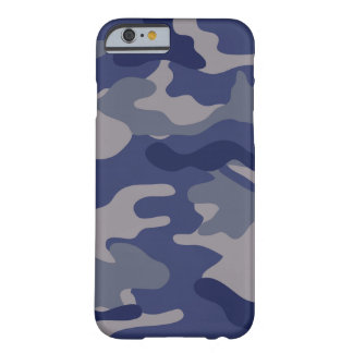 Camo azul capa iPhone 6 barely there