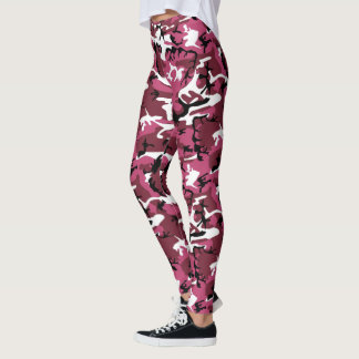 Camo cor-de-rosa leggings