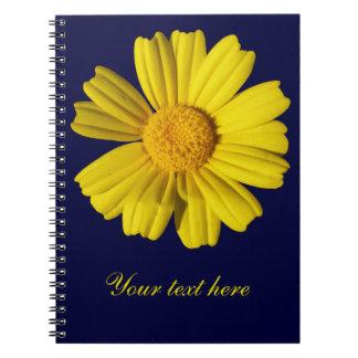 Camomila amarela ensolarada caderno espiral