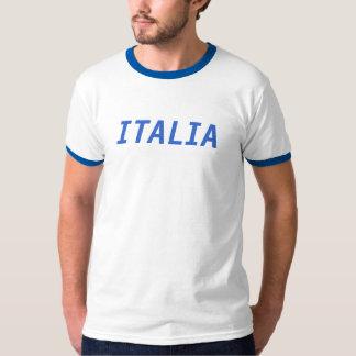 Campainha branca e azul de Italia Camiseta