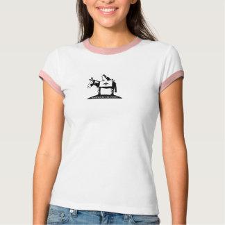 Campainha cor-de-rosa t-shirts