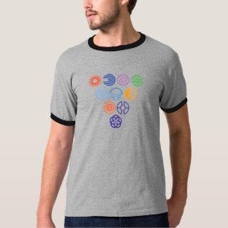 Campainha retro do logotipo camisetas