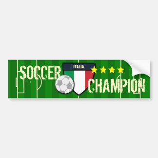 Campeão do futebol de Italia Italia Adesivo Para Carro