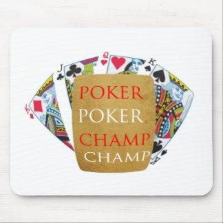 Campeão do póquer ART101 - design de Zazzle Mouse Pad