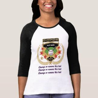 Campeão do softball Dianteiro-Para trás Camiseta