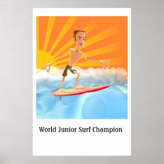 Campeão júnior do surf do mundo pôster