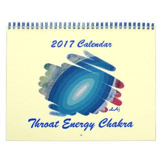 Campo azul da energia do calendário de Chakra 2017