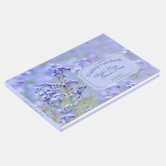 Campo das flores selvagens azuis que Wedding o Livro De Visitas