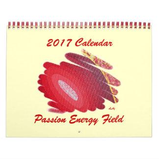 Campo vermelho da energia do calendário de Chakra