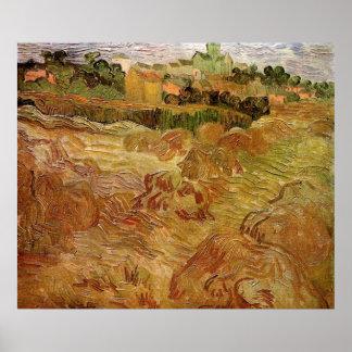 Campos de trigo com Auvers, fazenda de Van Gogh do