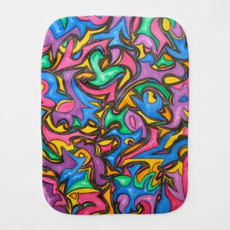 Camuflagem - arte abstracta pintado mão paninho de boca