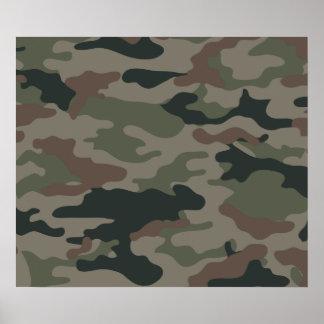 Camuflagem do exército no verde e nas forças armad poster