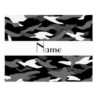 Camuflagem preta conhecida personalizada cartão postal