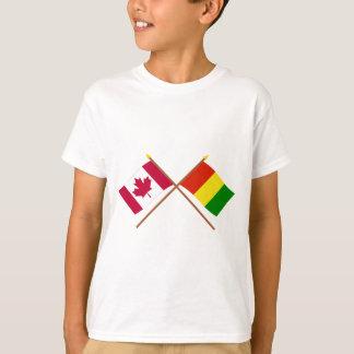 Canadá e bandeiras cruzadas Guiné Tshirt
