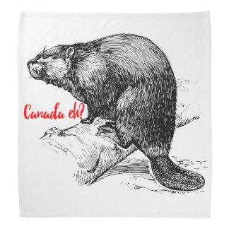 Canadá Eh? Kerchief do Bandana do castor