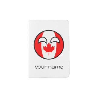 Canadá Geeky de tensão engraçado Countryball Capa Para Passaporte