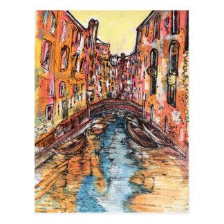 Canais de Veneza Cartão Postal