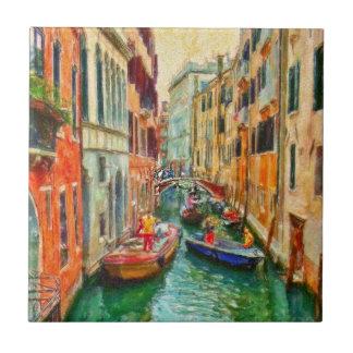 Canal Venetian Veneza Italia Azulejo De Cerâmica