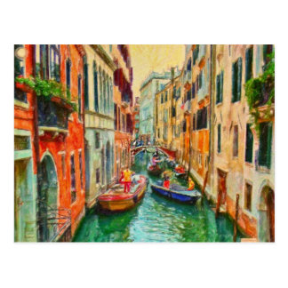 Canal Venetian Veneza Italia Cartão Postal