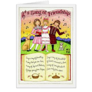 Canção do cartão da amizade da amizade