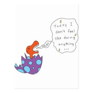 Canção preguiçosa Dino Cartão Postal
