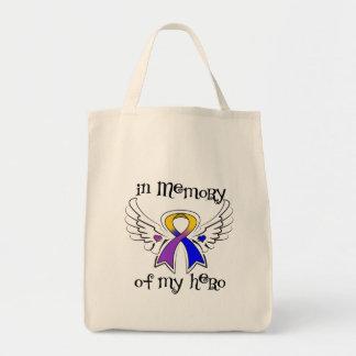 Cancer de bexiga na memória de meu herói bolsas para compras