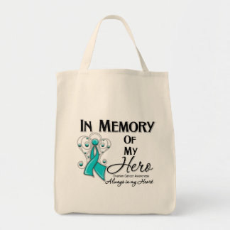 Câncer de ovário na memória de meu herói bolsa para compra
