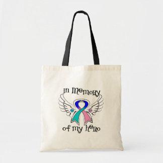 Cancer de tiróide na memória de meu herói bolsa de lona