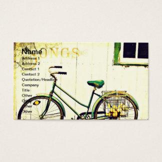 Canções da bicicleta do outono cartão de visitas