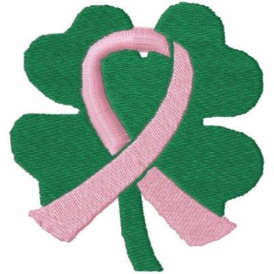 Cancro da mama bordado da fita do trevo da Quatro-