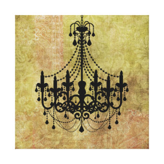 Candelabro rústico do preto do vintage impressão em tela